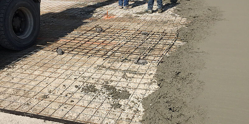 Concrete Pad at Loading Docks