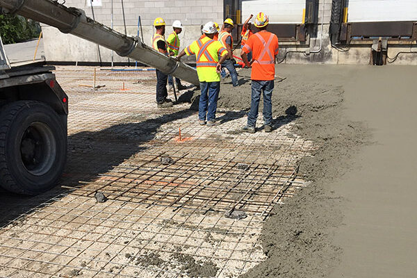 concrete pad, loading docks