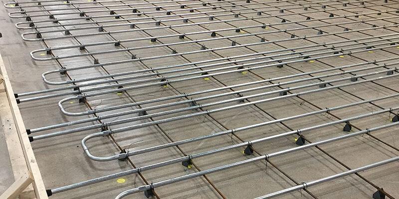 Under floor heating for a blast freezer-floor heating for a Blast Freezer