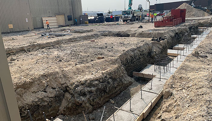 building footing, building expansion