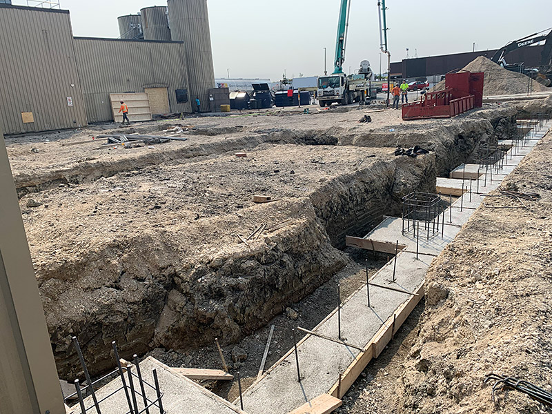 Footing for Building Expansion