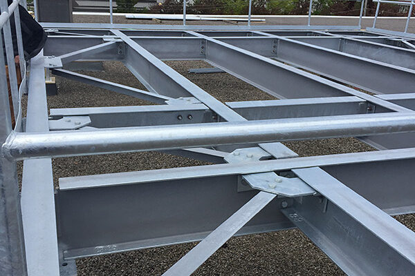 frame for rooftop equipment