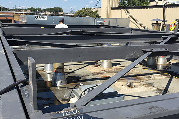 roof opening, rooftop opening to remove equipment